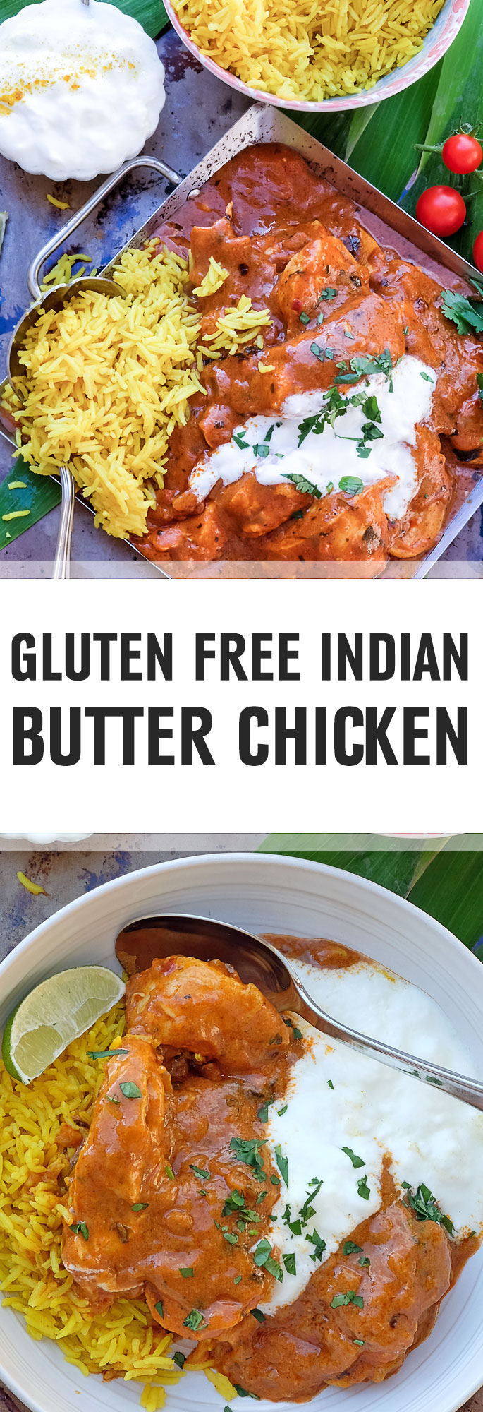 This authentic Indian dish is made with the right spices but without the extra fats that traditional butter chicken would be made with, such as butter or ghee. Just serve with basmati rice. Shared via http://www.gluteninsight.com