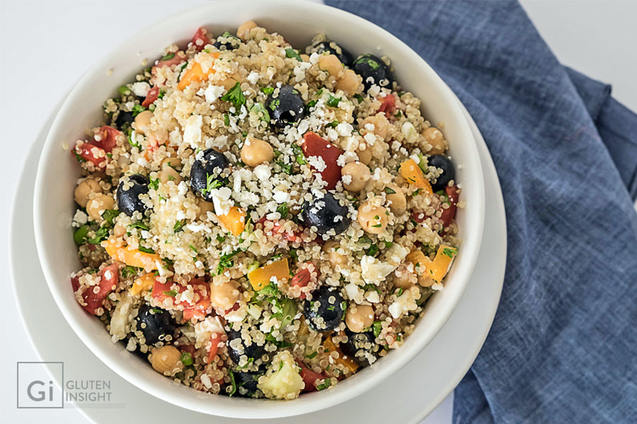 Gluten Free Greek Quinoa Salad