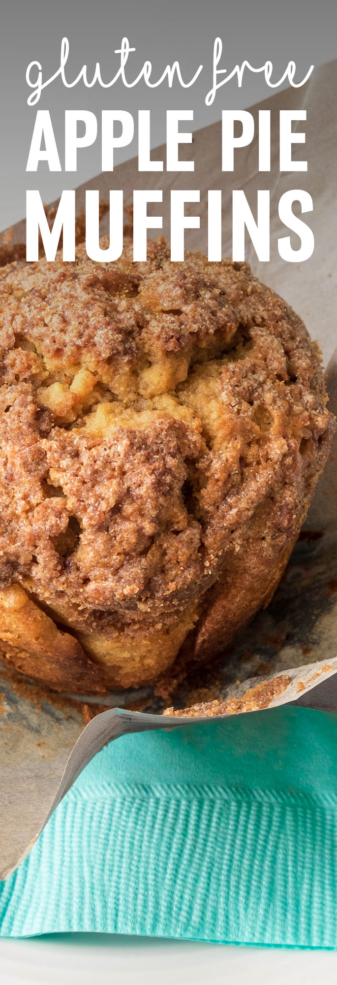 What could be better than a freshly baked healthy apple pie muffin. Wonderfully moist and flavored with cinnamon, these muffins are a winner. Shared via http://www.gluteninsight.com